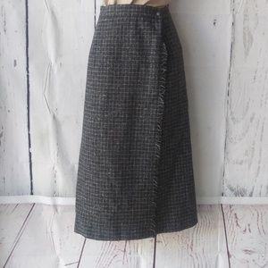 VTG portraits northern isles wool wrap skirt sz 16